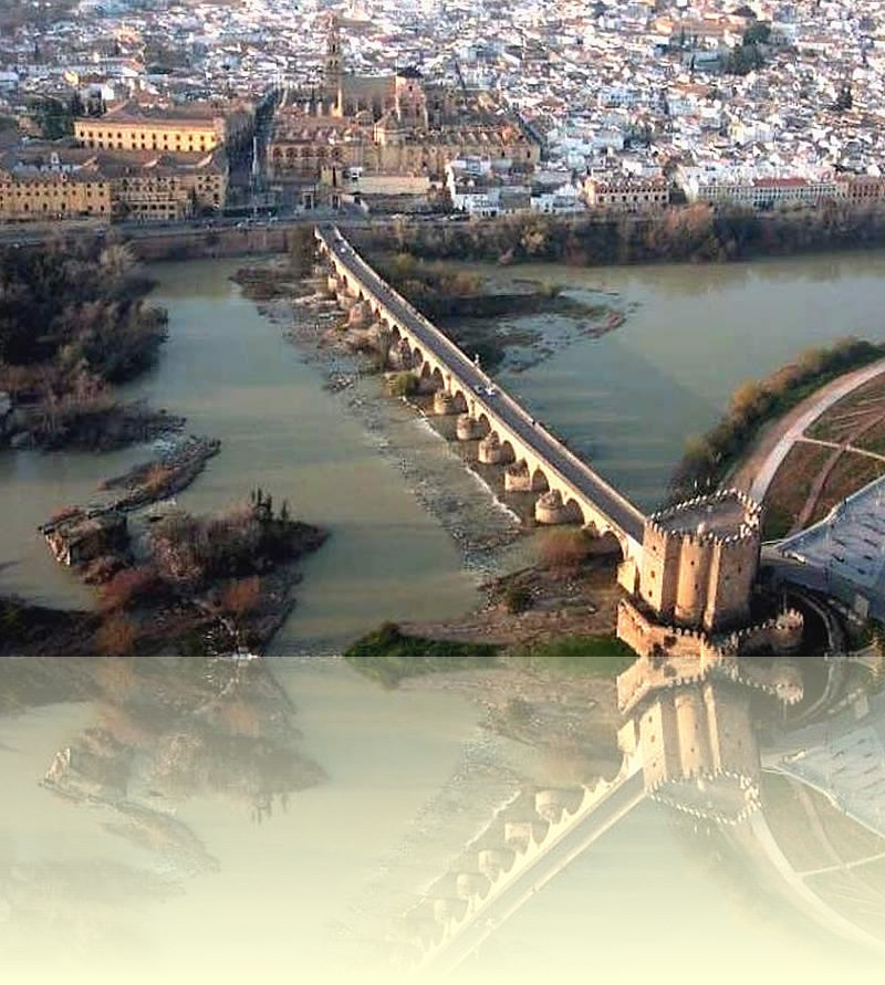 Roman bridge over the Guadalquivir river in Córdoba