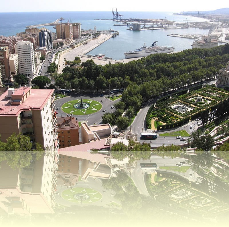 Málaga and its harbour