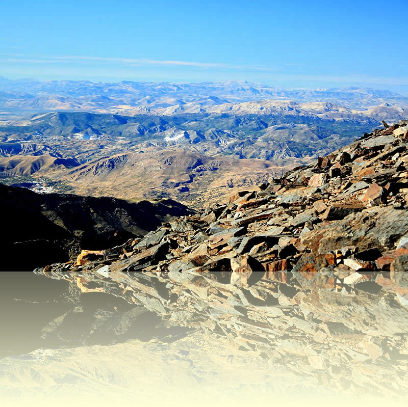 View from the Mulhacen, the highest peak of the Sierra Nevada mountains