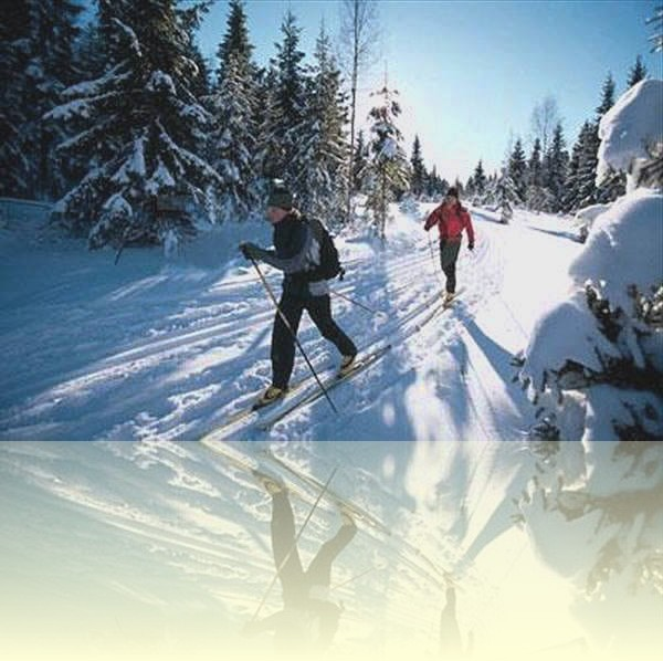 Skiing and cross country skiing during the winter months at the Puerto de la Ragua